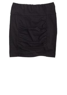 Black Rouched Bodycon Skirt - g
