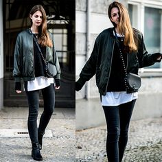 Get this look: http://lb.nu/look/8624675  More looks by Jacky: http://lb.nu/whaelse  Items in this look:  Zara Jacket, Lee Jeans, Marks & Spencer Boots, Rebecca Minkoff Bag   #casual #minimal #street #bomber #bomberjacket #zara #leejeans #blackjeans #blackboots