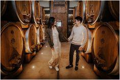 Wine cellar engagement session in Puglia