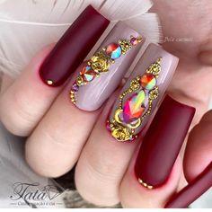 Caviar Nails, Classy Nails, Perfect Nails, Long Nails, Coffin Nails, Nail Art Designs, Beauty, Hair, Art Nails