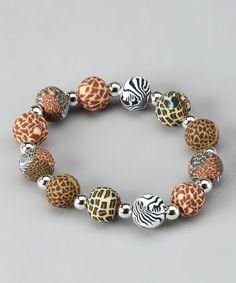 Safari Chunky Silver Ball Bracelet