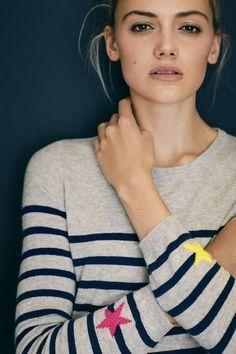 Wyse London Sienna Stripe Sweater  #WYSE #cashmere now available at atticwomenswearcom #aw17