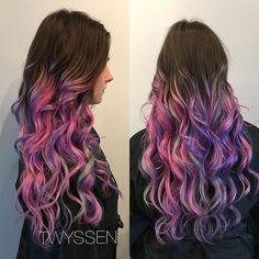 Sometimes you need a little colour in your life 💕 #hairbykalli #hair #hairstylists #hairlove #hairjoi #vancouverhairstylist #vancouver #yvr #joico #joicocolor #joicocolorintensity #mylittleponyhair #pink #purple #gorgeous #lovemyjob #passion #otf #onthefringehairdesign #otfmain #mainstreet #mainstreethairstylist #allthecolors #mermaidhair #waves #internationalstylists #unicorn #unicornhair #newyearunicorns #modernsalon