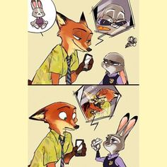 Zootopia fan comic #Nick #Judy #Finnick