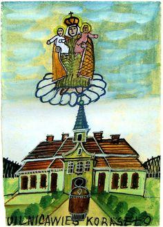/nikifor Fork Art, Grandma Moses, Henri Rousseau, Gcse Art, Naive Art, Outsider Art, Painters, Painting & Drawing, Anna