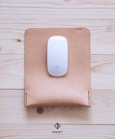 Personalized Leather Mousepad / Ergonomic Wrist by KonceptLeather