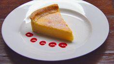 Lemon Tart with Raspberry Reduction