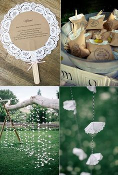 Ideas DIY para hacer con blondas - New Sites Diy Wedding, Wedding Favors, Rustic Wedding, Wedding Decorations, Wedding Tables, Decor Wedding, Diy And Crafts, Paper Crafts, Paper Doilies