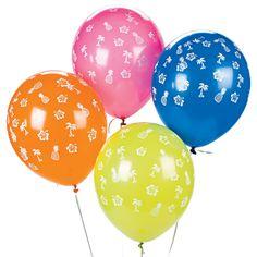 Latex Luau Balloons - OrientalTrading.com