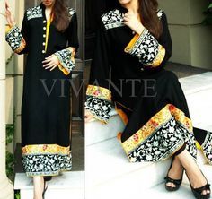Pakistani Black And White Dress Designs For Girls 002 -