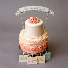 Bridal Shower Game 6 Silver Charm Cake Pulls for by WeddingsEtc