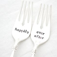 Hey, I found this really awesome Etsy listing at https://www.etsy.com/listing/103016229/happily-ever-after-wedding-forks