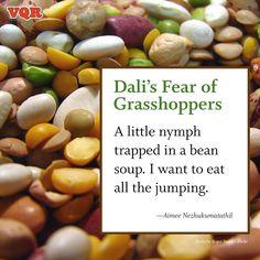 """Dali's Fear of Grasshoppers"" by Aimee Nezhukumatathil #poem #poetry"