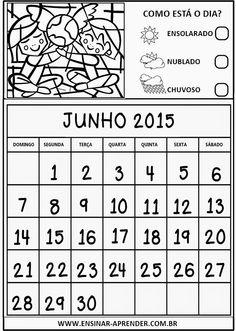 """CALENDÁRIOS 2015 PARA CADERNO OU AGENDA, TEMA ROMERO BRITO ~ """" Cantinho do Educador Infantil """""""