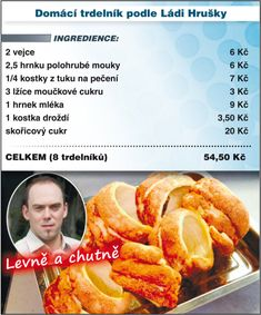 Levně a chutně s Ladislavem Hruškou - Trdelník Czech Recipes, Russian Recipes, Sweet Desserts, Dessert Recipes, Carrot Cake, Carrots, French Toast, Food And Drink, Cooking Recipes