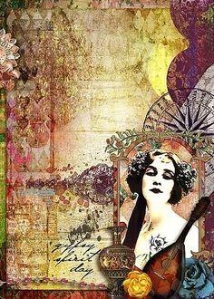 Gypsy Collage #art #bohemian
