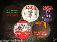 SANTA SANGRE 4 BUTTON OR MAGNET SET Alejandro Jodorowsky SURREAL TAROT MAGICK $4.25