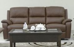 Shop the largest selection of living room furniture! Serving Dallas, Forth Worth, Plano & beyond! Reclining Sofa, Recliner, Florence, Living Room Furniture, Relax, Couch, Brown, Leather, Home Decor