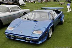 """1979 Lamborghini Countach S """"Wolf Dallara rear wing"""" in Blue Tahiti"""