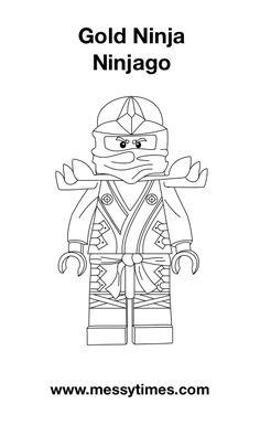Lego Ninjago - Gold Ninja - Colouring In