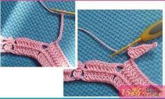 Do not miss this pattern to make a crochet jacket in pink thread, or another color of your preference. With the step by step learn how to make a crochet jacket, very nice for a gift or for your little daughter. Crochet Jacket Pattern, Crochet Cape, Crochet Cardigan, Crochet Bikini, Crochet Patterns, Gilet Rose, Vestidos Bebe Crochet, Crochet Patron, Japanese Patterns