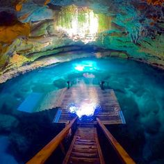 One of North America's most prehistoric places, Devil's Den -- an underground spring inside a dry cave in central Florida.