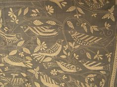 Kantha Work Embroidery Patterns Kantha Is An Important Tool In Green Movement Shree Neelkanth. Kantha Work Embroidery Patterns Buy Kantha Stich Off Wh. Embroidery Leaf, Hand Embroidery Flowers, Indian Embroidery, Embroidery Stitches, Embroidery Patterns, Machine Embroidery, Textiles, Textile Patterns, Kantha Stitch