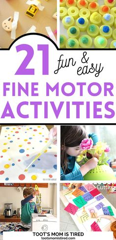 21 Fun Fine Motor Activities for Toddlers Cutting Activities For Kids, Two Years Old Activities, Preschool Craft Activities, Fine Motor Activities For Kids, Motor Skills Activities, Preschool Activities, Fall Crafts For Toddlers, Easy Toddler Crafts, Toddler Preschool