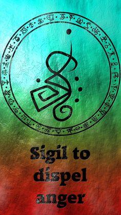 Sigil to dispel anger Sigil requests are closed. Wiccan Symbols, Magic Symbols, Spiritual Symbols, Viking Symbols, Egyptian Symbols, Viking Runes, Ancient Symbols, Sigil Magic, Magic Spells