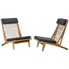 Pair Of Hans Wegner Lounge Chairs