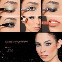 #look #dica Quer um olhar mais marcante? Troque o preto por cinza. Veja mais em: http://www.adoromaquiagem.com.br/dicas-maquiagem/novidades-tendencias/maquiagem-elegante/16686/