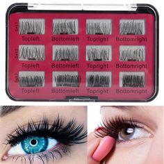 dfa98f19a68 US$17.69 - 12Pcs/6 Pairs Magnetic 3D False Eyelashes Natural Long Eye  Lashes Extension