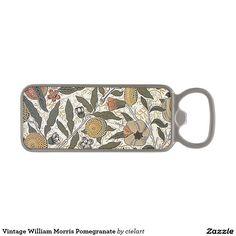 Vintage William Morris Pomegranate Magnetic Bottle Opener