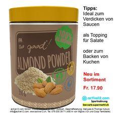SO GOOD!® ALMOND POWDER FA Engineered nutrition, Mandelmehl ohne Zusatzstoffe ■ Ideal zum Verdicken von Saucen ■ als Topping für Salate ■ oder zum Backen von Kuchen - Neu im Sortiment ►►► Bestellbar ab Lager Dulliken bei Olten hier: http://www.active12.ch/Spezialnahrungsmittel/Brot-und-Mehl--low-carb-/SO-GOOD-ALMOND-POWDER-FA-Engineered-nutrition.html Lagerverkauf: http://www.active12.ch/info/Oeffnungszeiten.html #SOGOOD #ALMONDPOWDER #FA #FAEngineered #Mandelmehl #Saucen #Topping #Salat