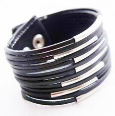 Black Leather Bracelet, starting at $3.