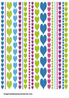 corazones para bordes de folios