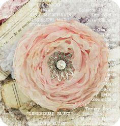 Chiffon flower brooch