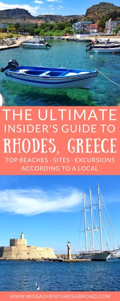 An Insider's Travel Guide To Rhodes, Greece · Discover the best things to do, see and eat in Rhodes, Greece. This insider's travel guide will help you discover the best historic sites, most beautiful beaches, and best excursions available on this Greek island paradise. The perfect start to any Rhodes itinerary!