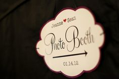 Black and Purple Photo Booth Sign