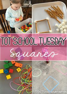 Square/shape ideas and activities for tot school, preschool, or kindergarten. {Mrs. Plemons' Kindergarten}