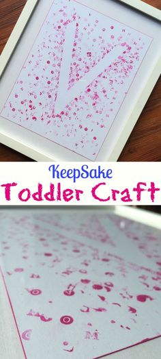 This Keepsake Toddler Craft is so fun and easy to do with your little kids. DIY instructions for this art project are easy for kids of all ages. (toddler arts and crafts) Toddler Arts And Crafts, Arts And Crafts For Teens, Easy Arts And Crafts, Easy Crafts For Kids, Baby Crafts, Crafts To Do, Diy For Kids, Simple Crafts, Crafts With Toddlers