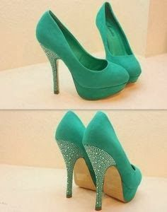1aa295129bc6d Mint high heels make em wedges then we can talk. Love the idea n style but  not the color~green high heels