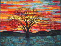 Colors of Winter, viewers choice by Lenore Crawford.  Art Quilts at the Whistler House Museum of Art