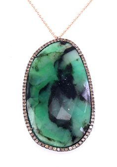 Meira T Rough Emerald Necklace