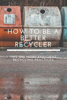 How to recycle better and more efficiently (zero waste). Recycling Facts, Recycling Information, Green Recycling, Reduce Reuse Recycle, Ways To Recycle, Repurpose, Zero Waste, Reduce Waste, Plastik Recycling