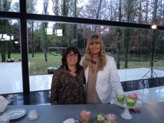 Junto a Herminia Devoto, en la grabación de Celebraciones en Familia - Programa emitido por CasaClub TV