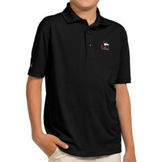 Antigua Youth Northern Illinois Huskies Black Pique Polo, Size: Medium, Team
