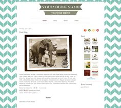 Premade Blogger Template for Modern Charms collection
