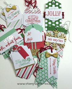 Oh What Fun Tag Project Kit from Stampin' Up! is a quick and easy way to create… Diy Christmas Tags, Christmas Ideas, Stampin Up, Create Your Own, Card Making, Merry, Gift Wrapping, Kit, Card Holders