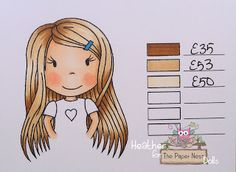 Heather Huggins - The Paper Nest Dolls - Copic Hair Color light brown
